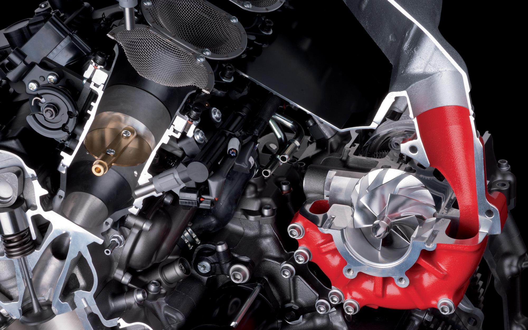 engine kawasaki h2r