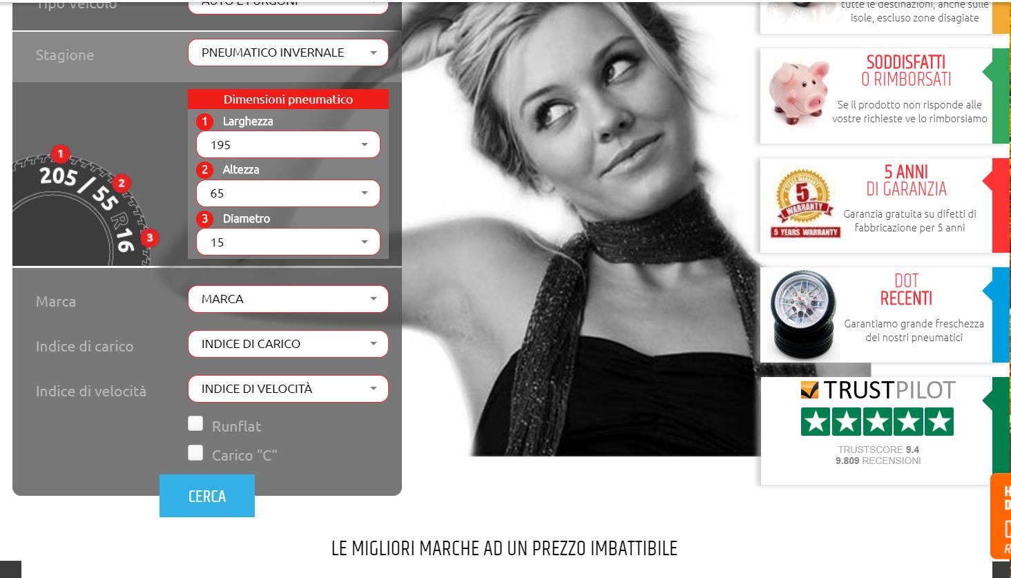 Acquista su SpecialGomme pneumatici online